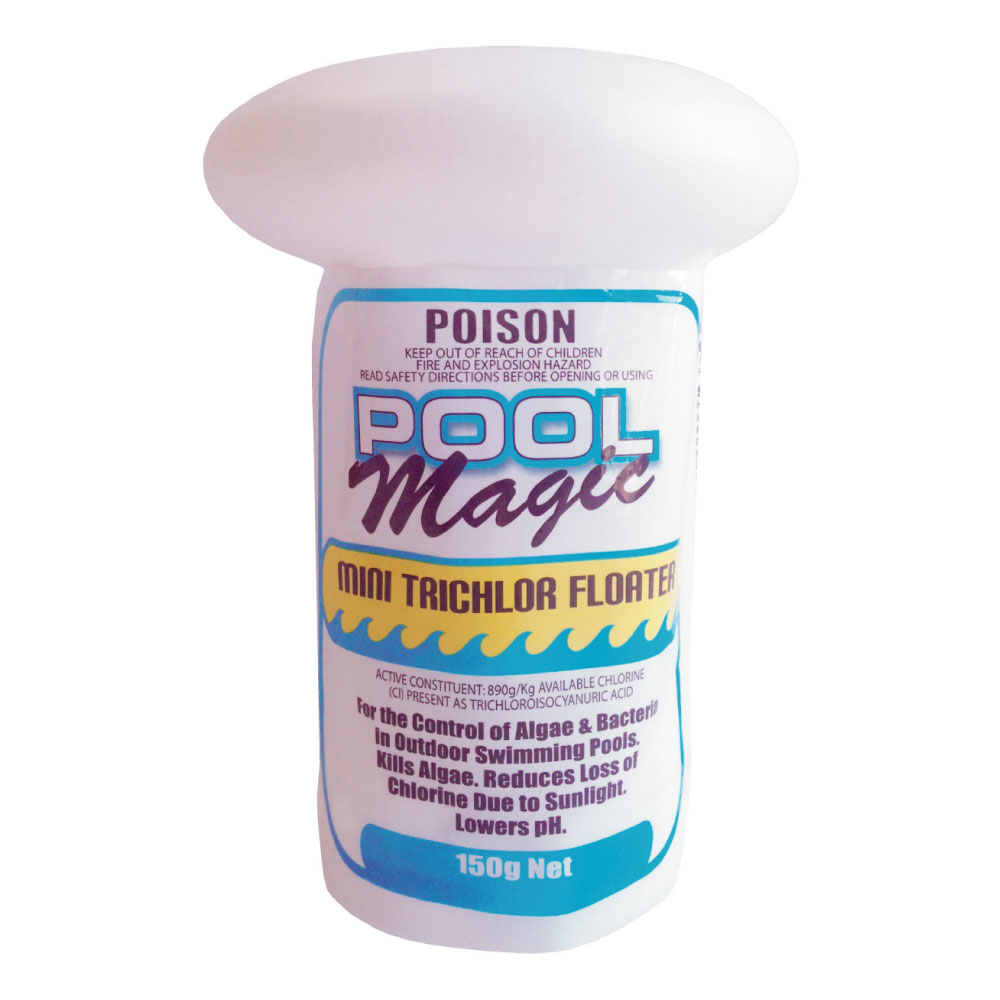 Pool Magic Mini Trichlor Floater 150g Always Clear Pool